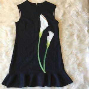 Victoria Beckman Calla Lily swing black Dress